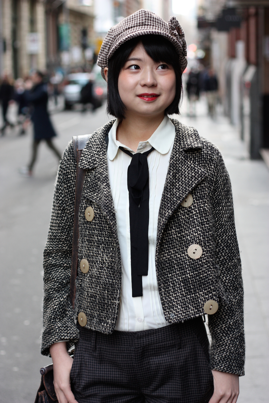 "Vic: Di Hu, student, Flinders Lane Melbourne. ""My style is…Sherlock?""  <a href=""http://www.marythamphotography.weebly.com/"" target=""_blank""> Photo: Mary Tham </a>"