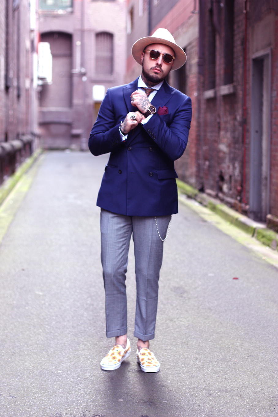 """Vic: Roberto Malizia, Blogger, Melbourne CBD. """"Fashion has no rules, only personality.""""  <a href=""""http://www.marythamphotography.weebly.com/"""" target=""""_blank""""> Photo: Mary Tham </a>"""