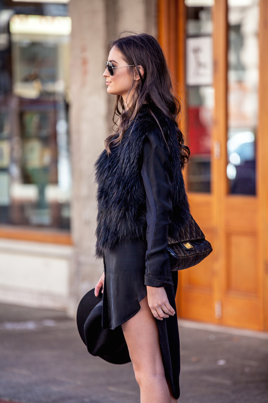 """SA: Evelyn Leckie, Fremantle. """"My outfit's styled by Elle from Perth Style Source."""" Photo: David Cowe"""