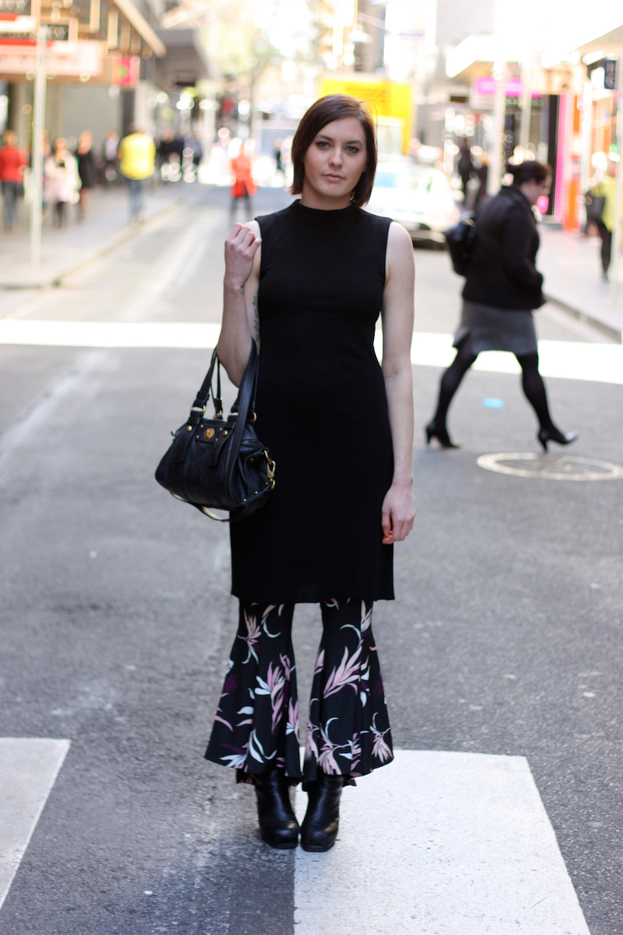 "Vic: Jordana-Lee Pearce, blogger, Little Collins St. ""My style is biker chic with a 70's twist."" <a href=""http://www.marythamphotography.weebly.com/"" target=""_blank""> Photo: Mary Tham </a>"