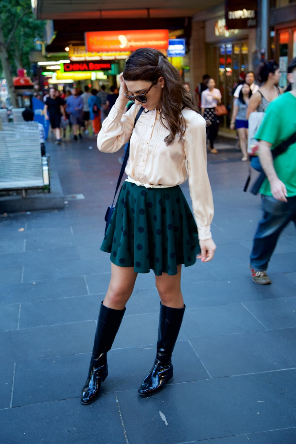 VIC: Taylah Paris, stylist, snapped by Rupert in Bourke Street Mall, Melbourne.