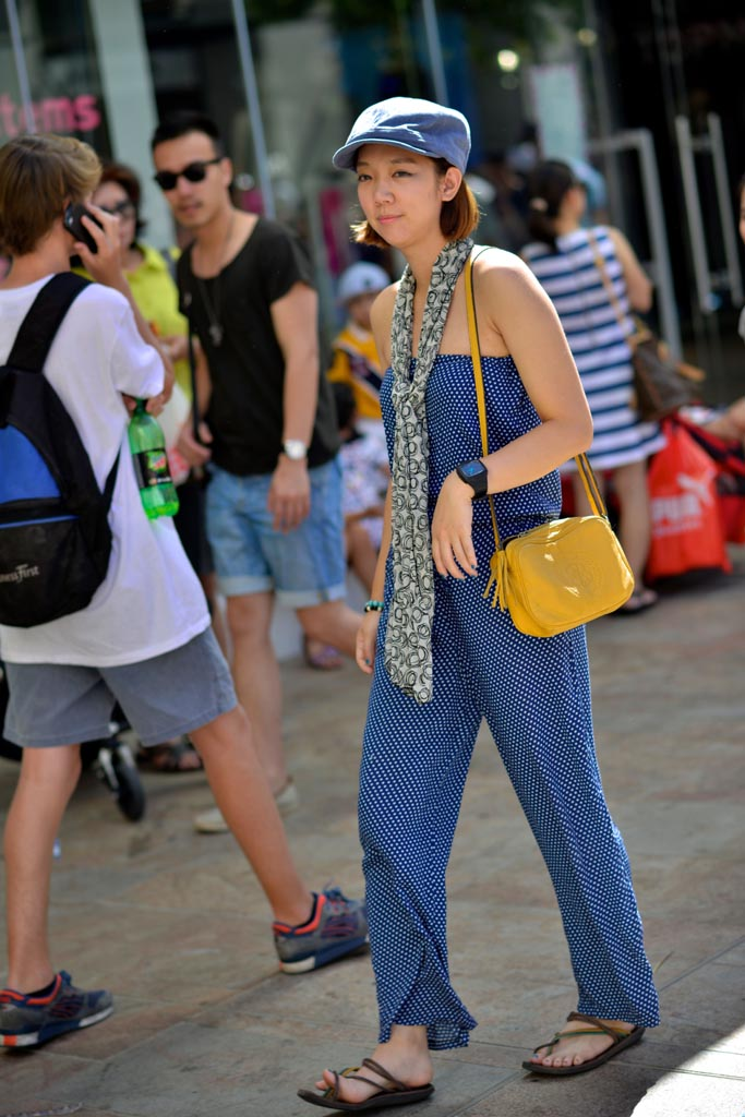 Tiffany on a working holiday, Hay St, Perth. Photographed by Alan Wu.