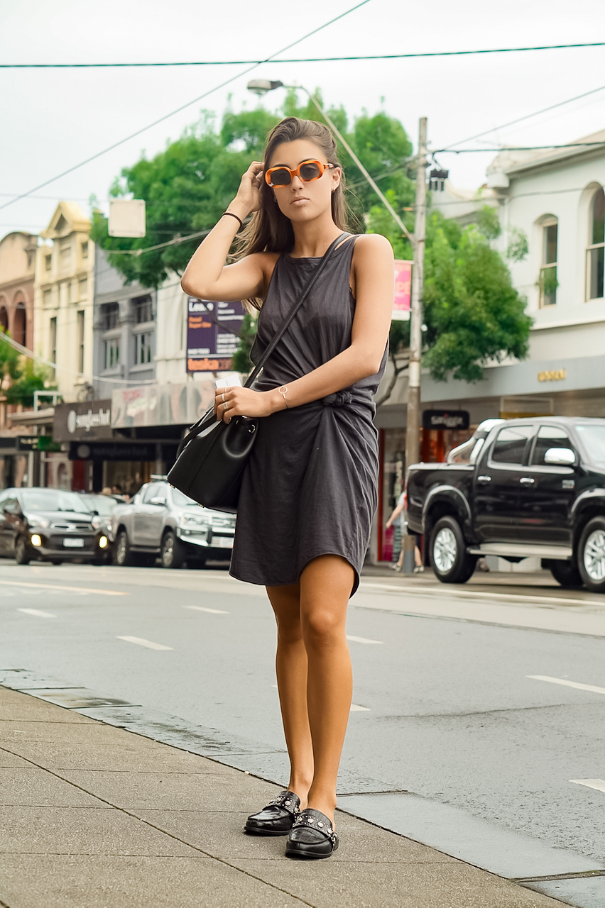 "VIC: Coco, model, Chapel St, South Yarra. ""I always wear a bit of vintage."""
